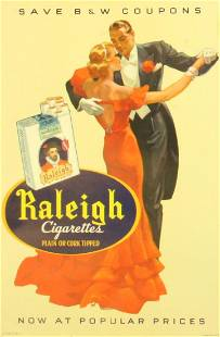 Advertising Poster Raleigh Cigarettes Art Deco