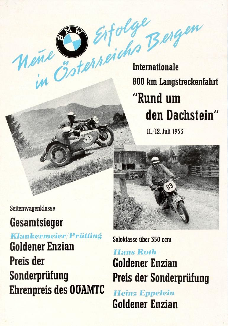 Sport Poster BMW Motorcycle Racing Austria Victories