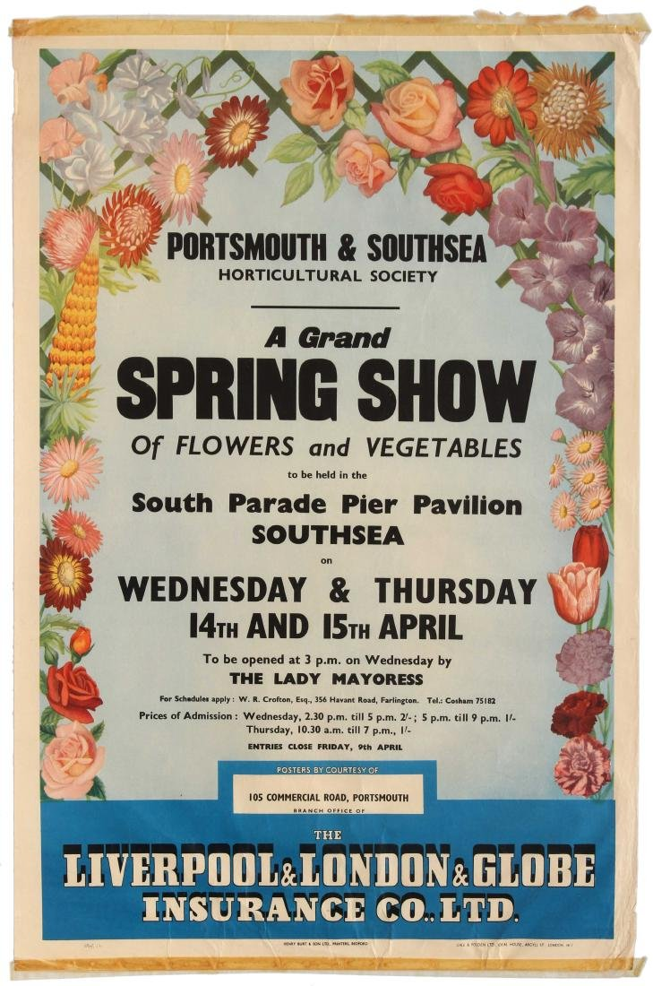 Advertising Poster Portsmouth Southsea Horticultural