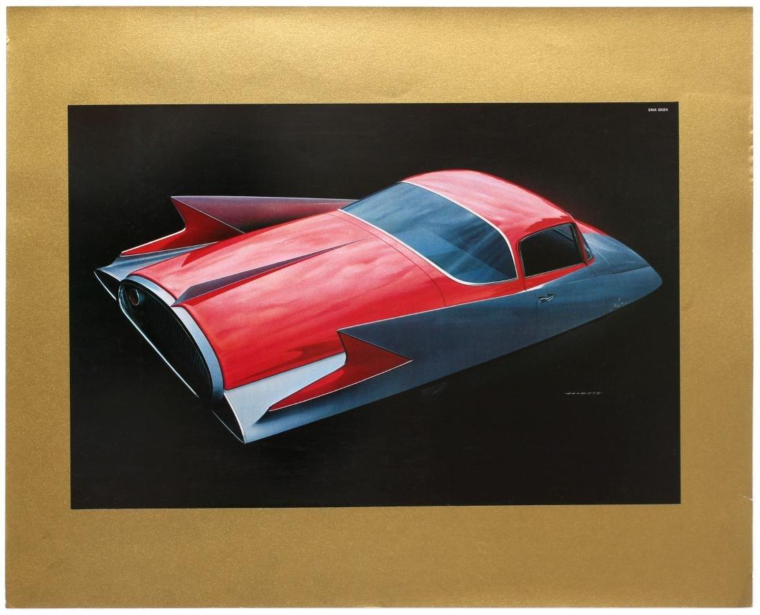Advertising Poster General Motors Concept Car Chrysler
