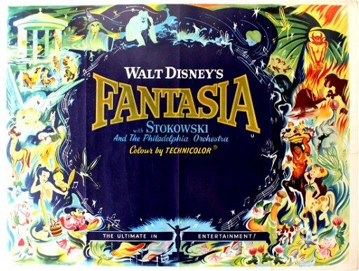 Cinema Poster Fantasia Disney Uk Quad May 11 2019 Antikbar Original Vintage Posters In United Kingdom
