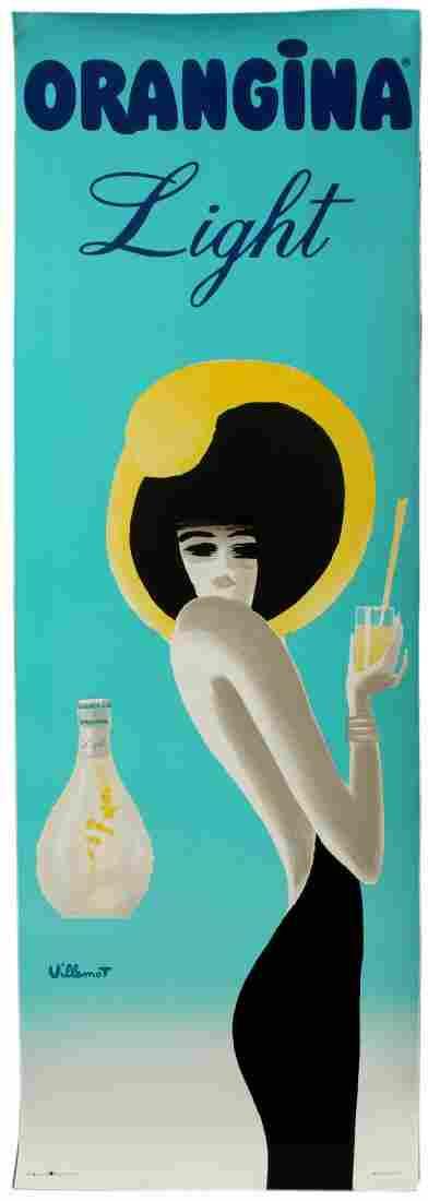 Advertising Poster Orangina Light Villemot