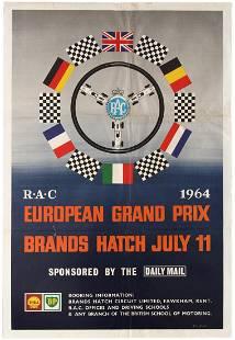 Sport Poster Formula 1 RAC European Grand Prix Brands