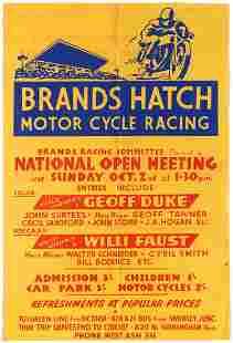 Sport Poster Brands Hatch Motorcycle Racing Geoff Duke