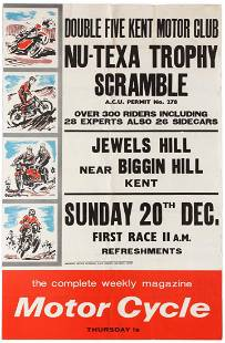 Sport Poster NuTexa Trophy Scramble Motorcycle Racing