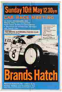 Sport Poster Brands Hatch Car Racing BRAC Formula 3