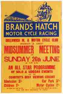 Sport Poster Brands Hatch Motorcycle Racing Greenwich