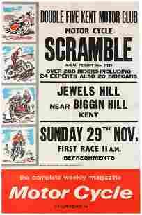 Sport Poster Motorcycle Scramble Racing Double Five