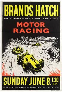 Sport Poster Brands Hatch Motor Racing June 8