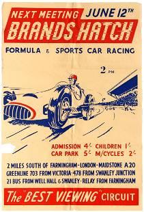 Sport Poster Brands Hatch Formula 3 Sports Car Racing
