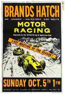 Sport Poster Brands Hatch Motor Car Racing BRAC