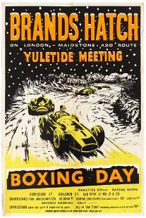 Sport Poster Brands Hatch Yuletide Meeting Car Racing