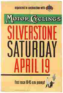 Sport Poster Motorcycle Racing Silverstone Grand Prix