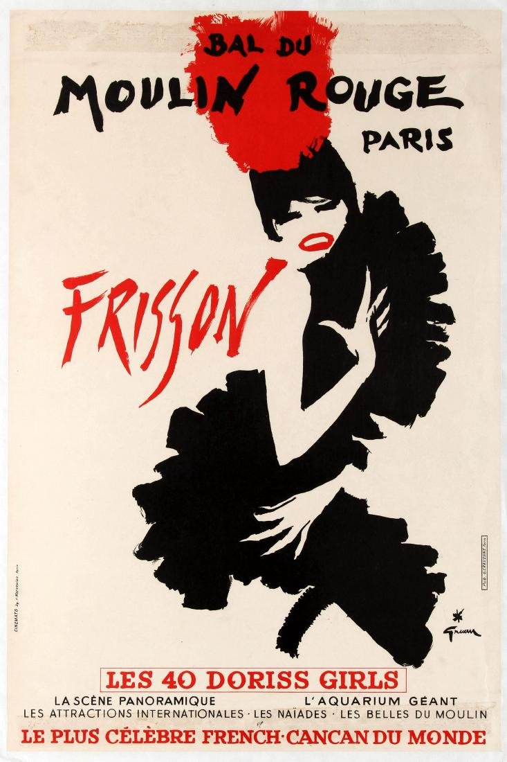 Advertising Poster Bal du Moulin Rouge Frisson Cabaret