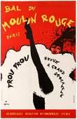 Advertising Poster Bal du Moulin Rouge Frou Frou