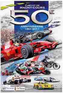 Sport Poster MagnyCours Circuit Formula 1 Ferrari