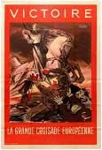 Propaganda Poster WWII Nazi France Antisemitic Great