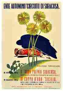 Sport Poster Siracusa Grand Prix 1952 Ferrari