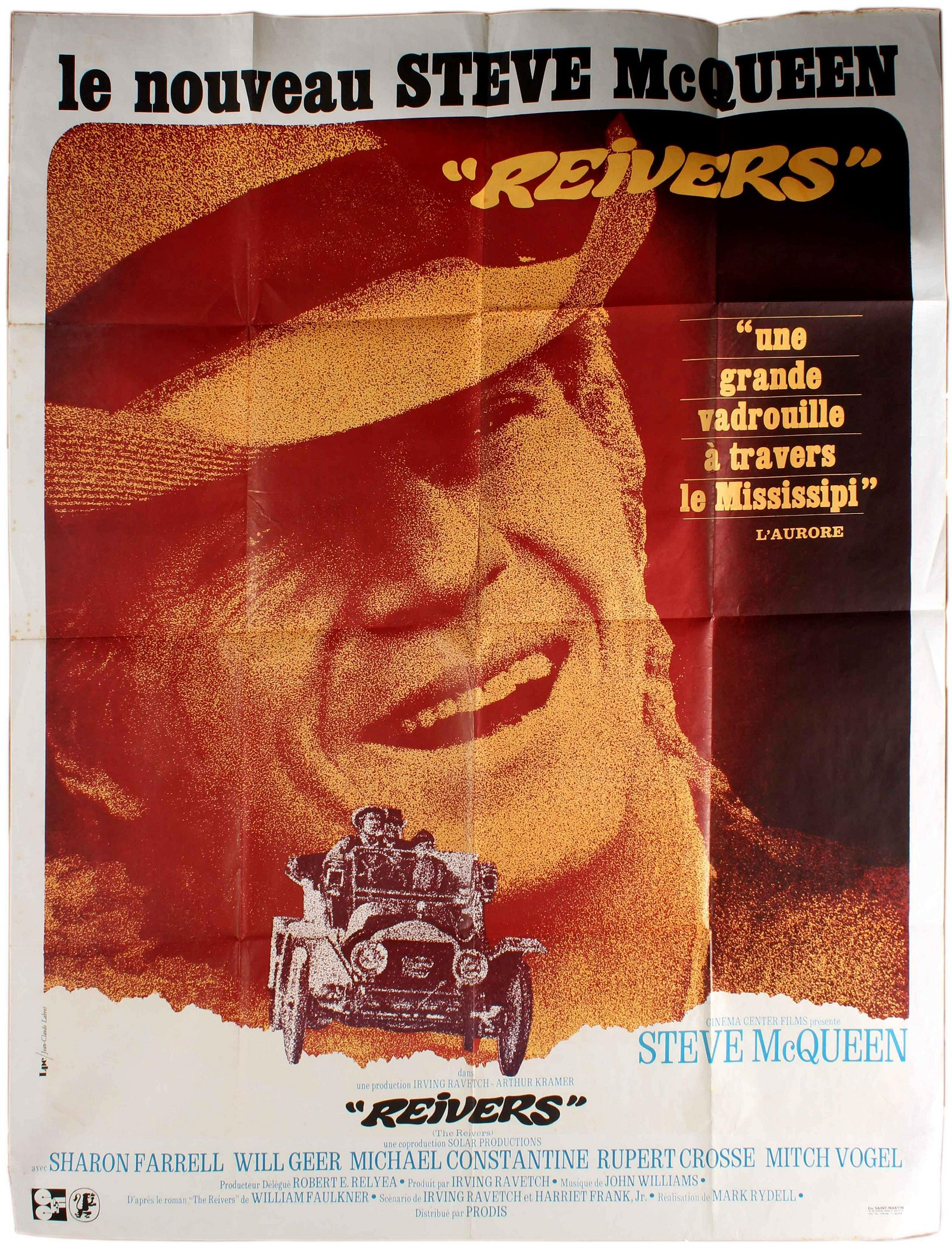 Film Poster The Reivers French Poster Steve McQueen