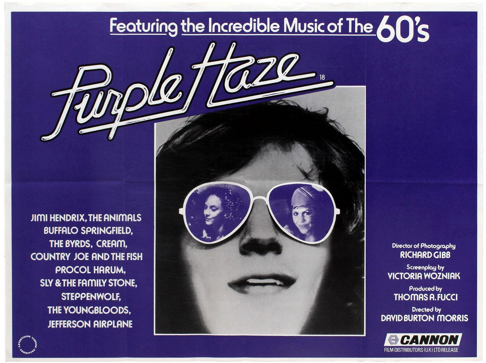 Film Poster Movie Purple Haze Jimi Hendrix The Animals