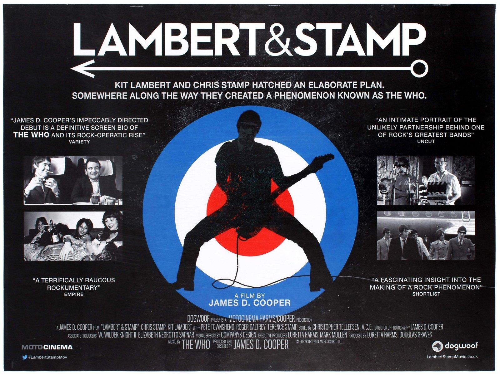Film Poster Movie Lambert & Stamp The Who Documentary