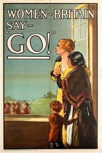 War Poster Women of Britain Say Go WWI UK