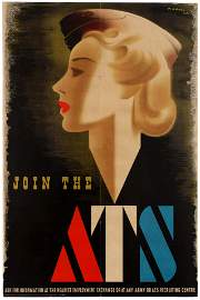 War Poster WWII Join the ATS Abram Games Blonde