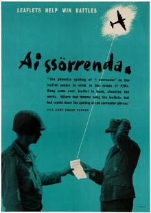 War Poster WWII Leaflets Help Win Battles Nazi War