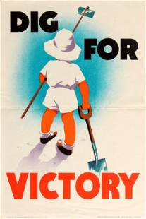 War Poster Dig For Victory WWII UK Home Front Mary