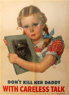 War Poster MY Daddy is a Hero WWII UK USSR Russia