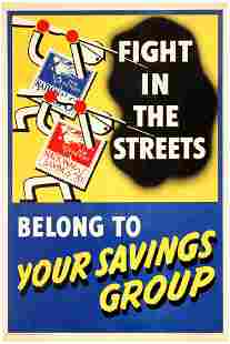 Propaganda Poster British WWII Home Front Savings Group