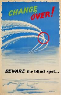 Propaganda Poster Air Force Pilot Safety Blind Spot UK