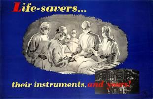 Propaganda Poster Air Force Pilot Safety Life Savers