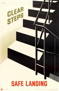 Propaganda Poster Clear Steps Safe Landing ROSPA