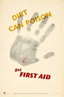 Propaganda Poster Dirt Poison First Aid ROSPA