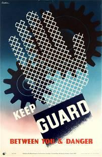 Propaganda Poster Keep Guard ROSPA Work Safety