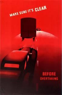 Propaganda Poster Road Safety ROSPA Overtaking Cusden