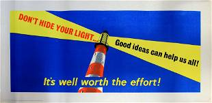 Propaganda Poster Workplace Motivation Dont Hide Your