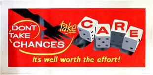 Propaganda Poster Workplace Motivation Gambling Dice