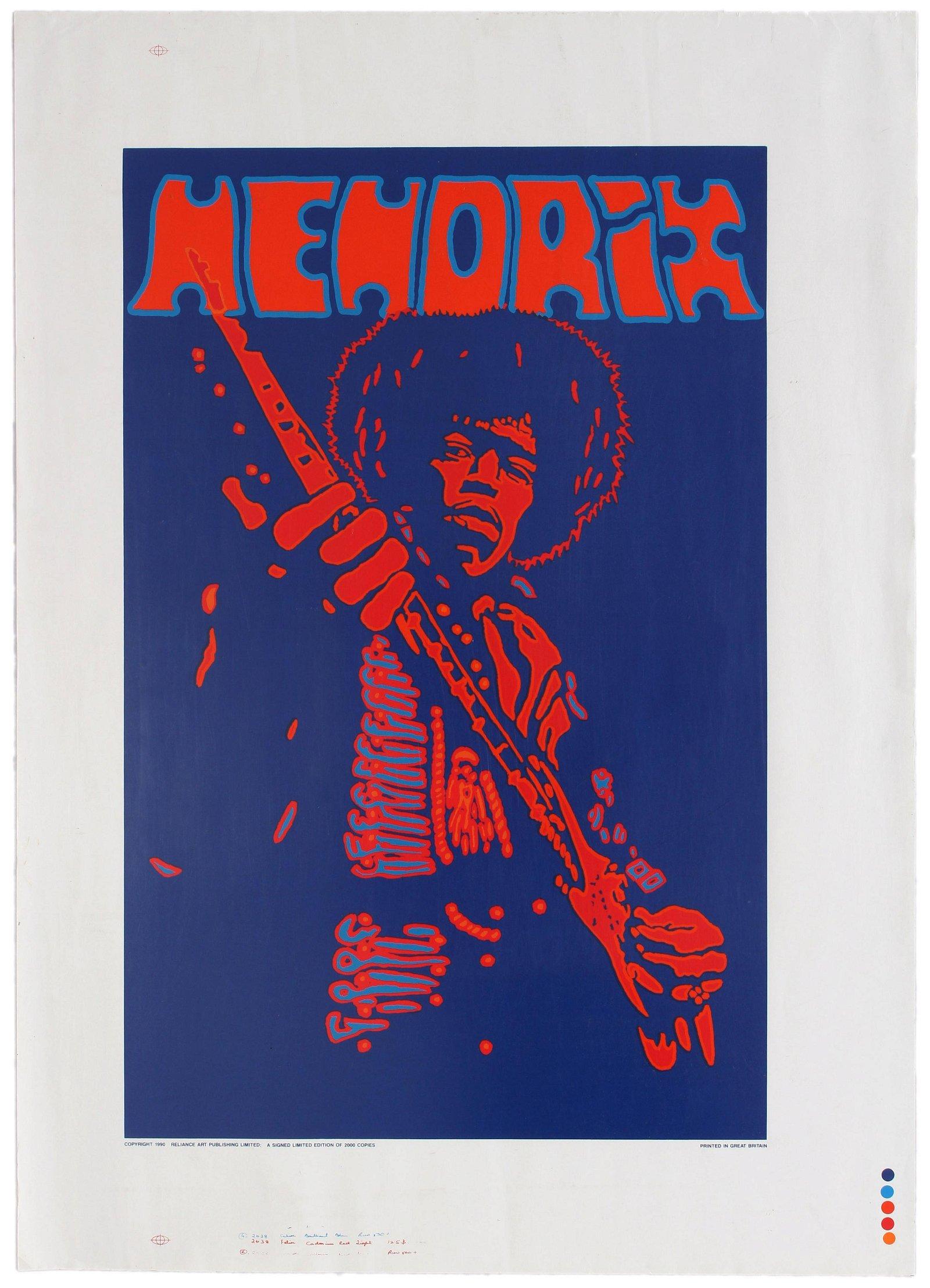 Advertising Poster Music Jimi Hendrix Peter Marsh UK