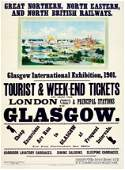 Travel Poster Glasgow International Exhibition 1901