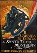 Sport Poster Motorcycle Race Barcelona Spain