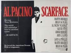 Movie Poster Scarface Al Pacino UK Quad