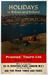 Original Travel Poster Holiday in Britain in Ireland