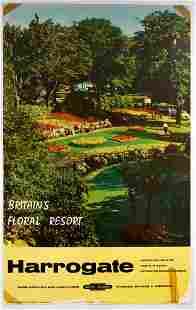 Original Travel Poster Harrogate Floral Resort British