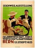 Original Advertising Poster Switzerland Exhibition