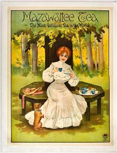Original Advertising Poster Mazawattee Tea