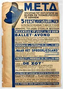 Original Advertising Poster Ballet Music Stage Parties
