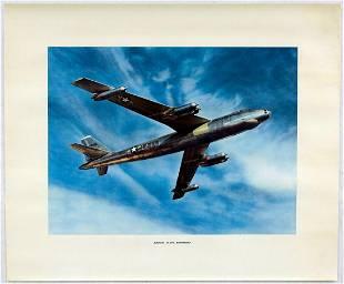 Original Advertising Poster Boeing B47A Stratojet USA