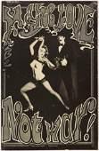 Original Advertising Poster Make Love Not War Bruce